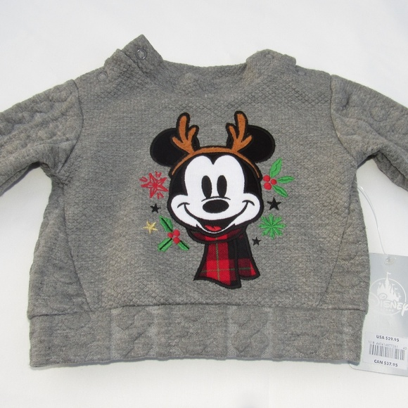 Disney Store Mickey Mouse Baby Cute Winter Sweater Boys Size 0 3 6 Months New